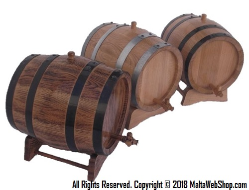Small oak wood barrel, wooden cask and wine keg in Malta - Maltawebshop