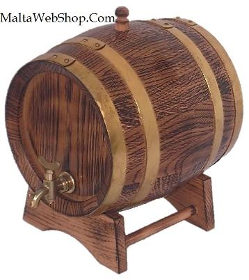 Small decorative wooden barrel, Malta