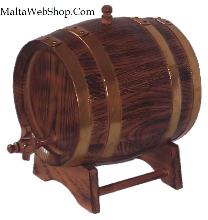 Small wooden oak keg, Malta