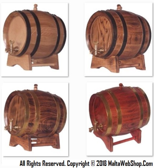 Small wooden barrels, kegs and casks in ok for wine dispensing in Malta - MaltaWebShop.com