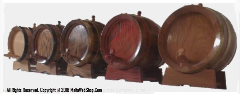 Small wiiden barrels and casks in Malta - bettiegha btieti tal inbid